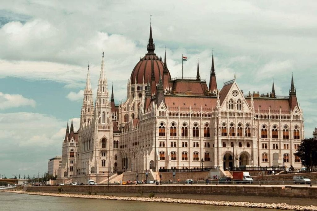 Budapest Parliament building seen from the side
