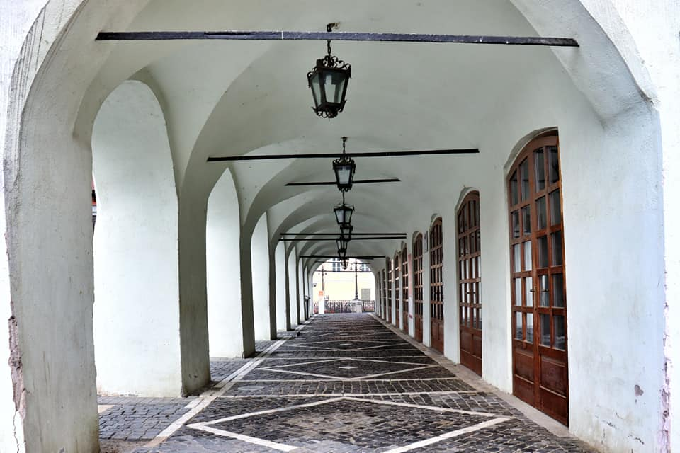 An empty passageway in Sibiu, Romania during the lockdown
