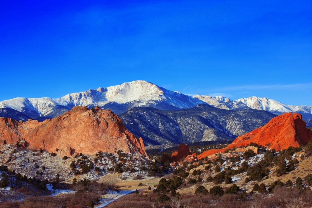 Pikes Peak Mountain in Colorado Springs, Colorado