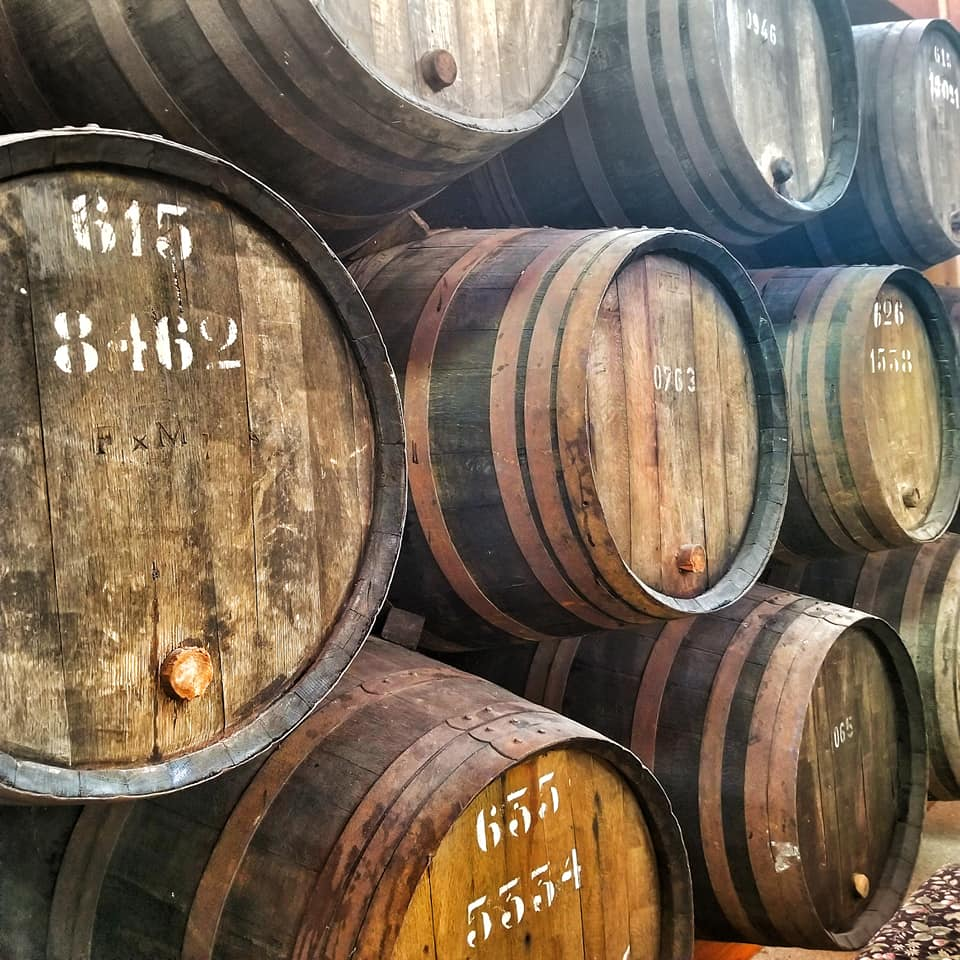 Port Barrels at Croft Vineyards in Portugal