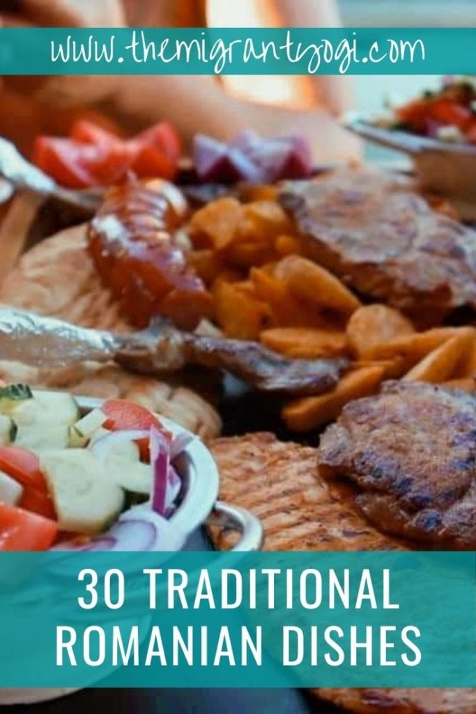 Pinterest Graphic: Traditional Romanian dishes to try