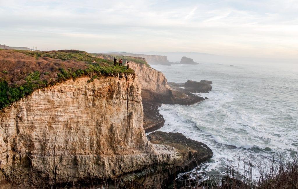 Santa Cruz California cliffs