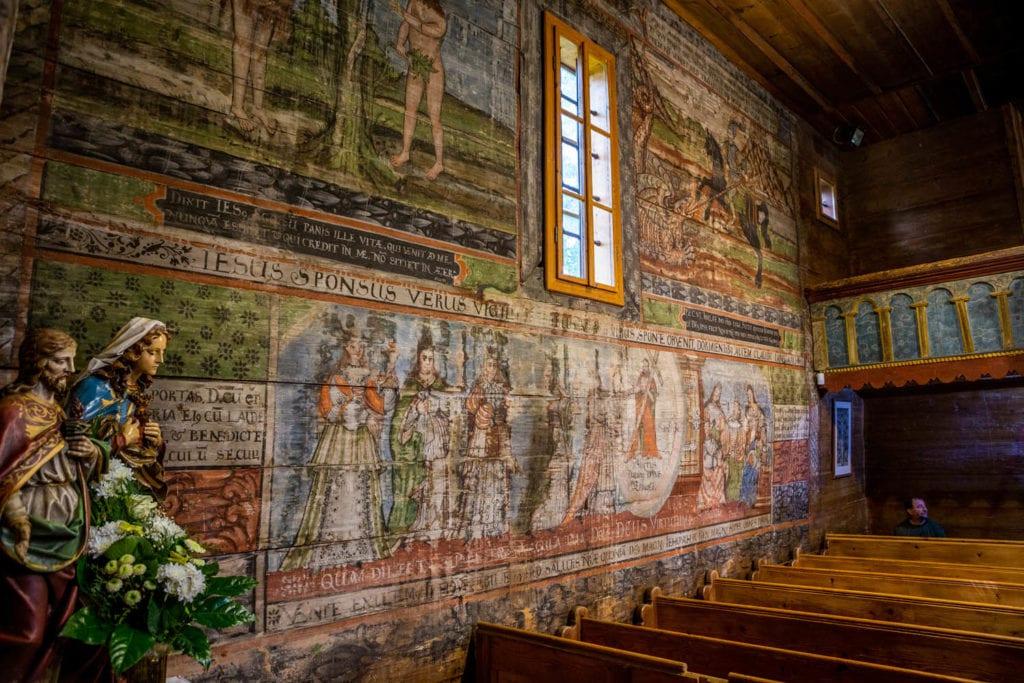Wooden church of Hervartov interior - Slovakia bucket list
