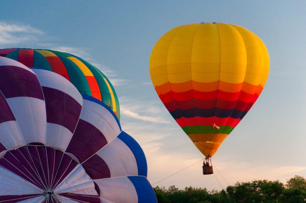 South County Hot Air Balloon Festival in Rhode Island.