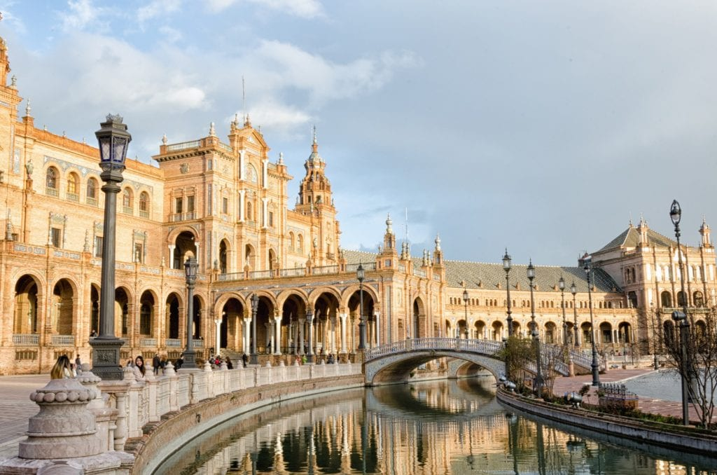 Gorgeous architecture of Seville, Spain.
