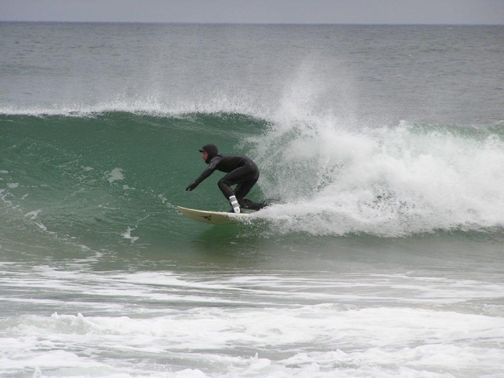 Surfing in Narragansett, Rhode Island