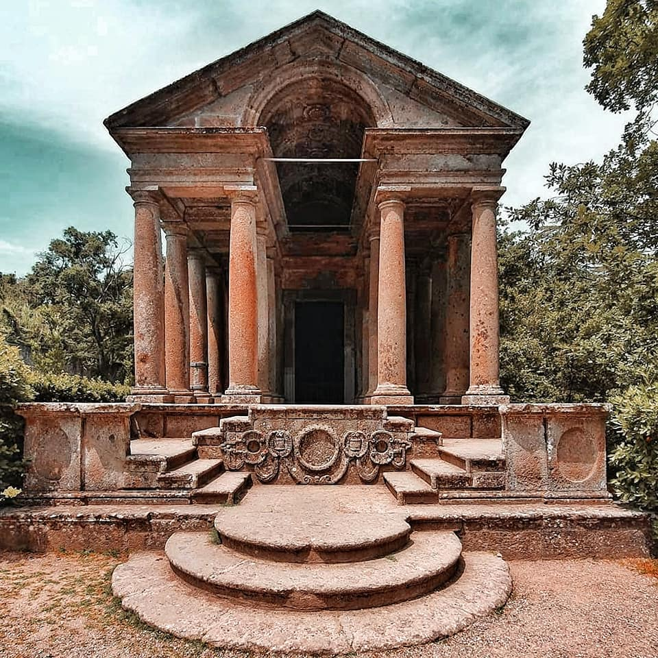 temple in bomarzo, one of the hidden gems in tusica