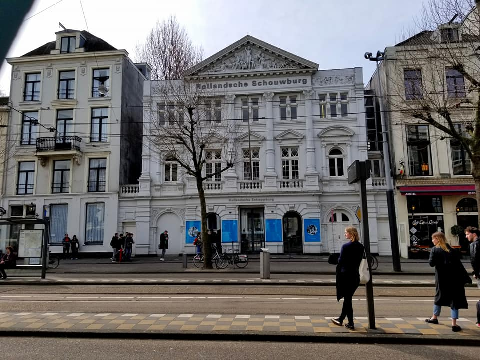 Hollandsche Schouwburg deportation site - Amsterdam Jews temporarily gathered there together before being deported to concentration camps.