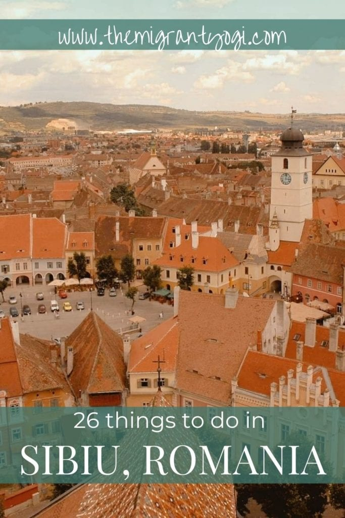 Pinterest graphic: Things to do in Sibiu, Romania