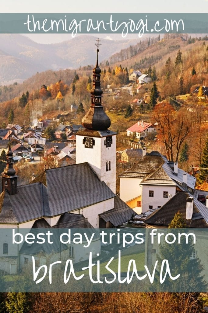 Pinterest graphic - 10 day trips from Bratislava