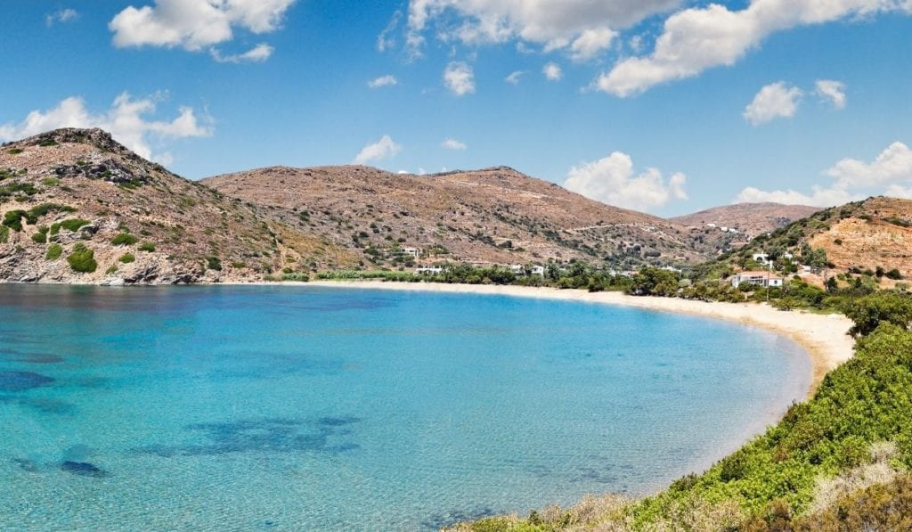 Beach in Andros Greece, an underrated beach in Europe
