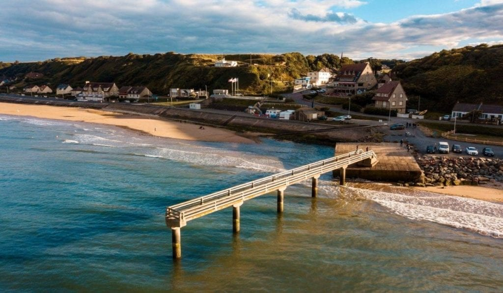 Omaha Beach is a great day trip from Paris for WWII enthusiasts.