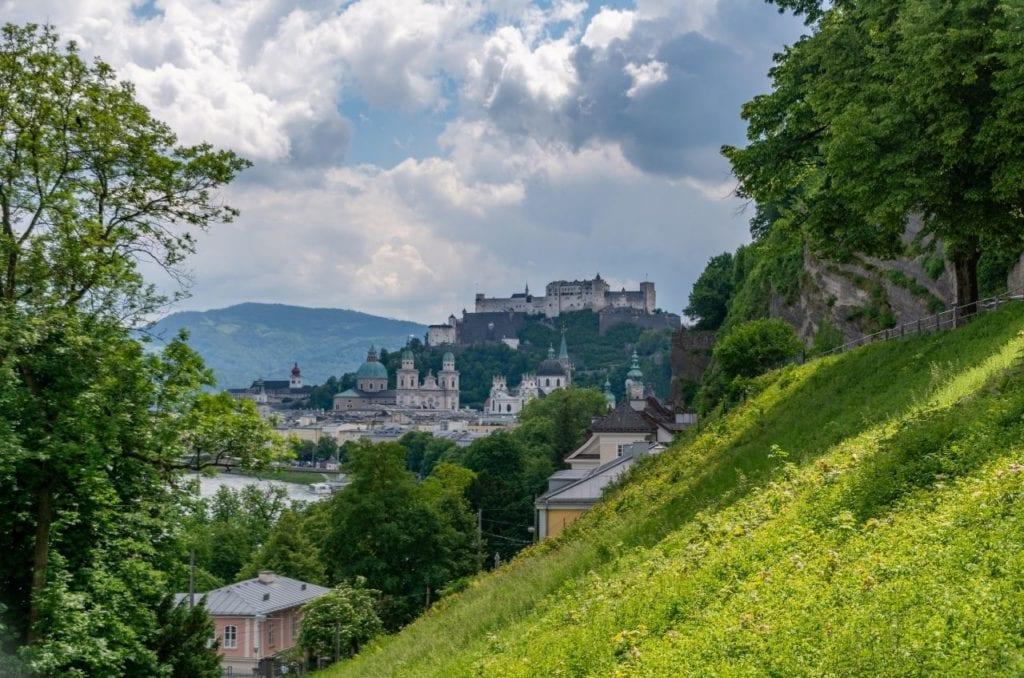Famed Fortress in Salzburg, Austria, one of the most popular Austrian landmarks.