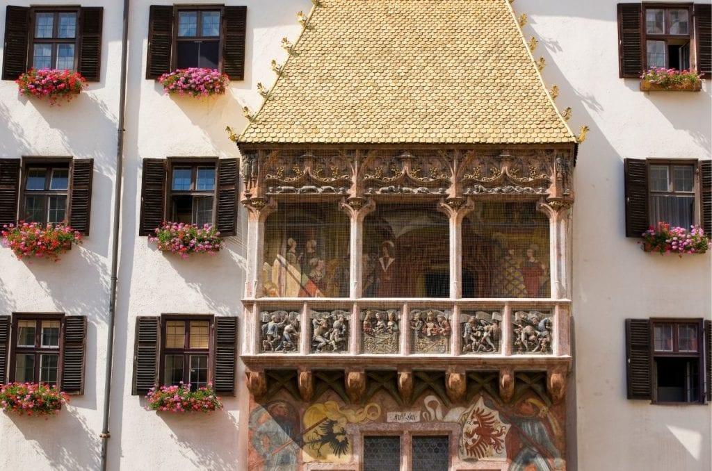 Golden Roof in Innsbruck, one of the top landmarks in Austria.