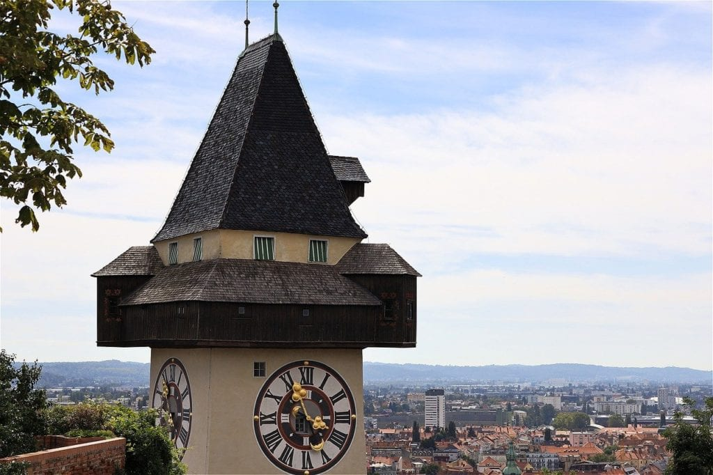 Graz clocktower in Graz, Austria - the top landmark to visit in Graz, Austria.