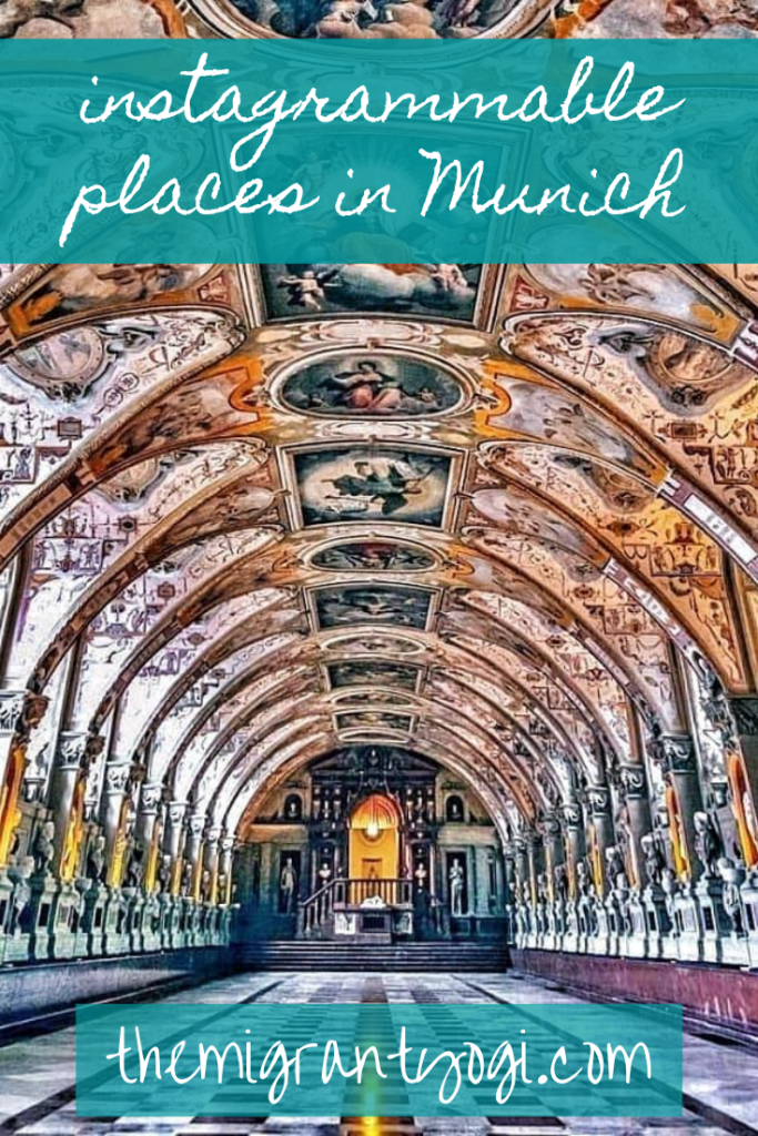 Interior photo of Residenz in Munich, 11 most Instagrammable places in Munnich Pinterest Graphic.