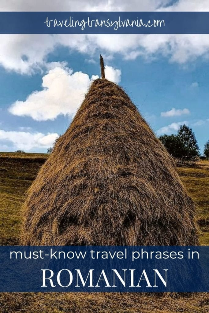 Pinterest graphic - Must-Know Romanian travel phrases