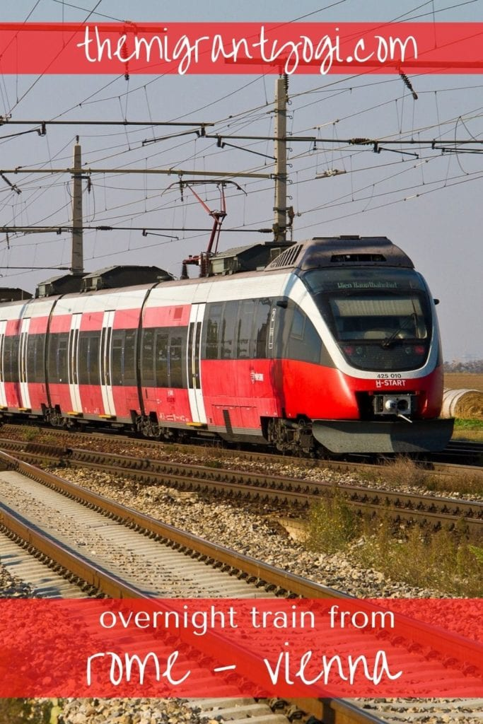 Pinterest Graphic: Overnight train from Rome to Vienna