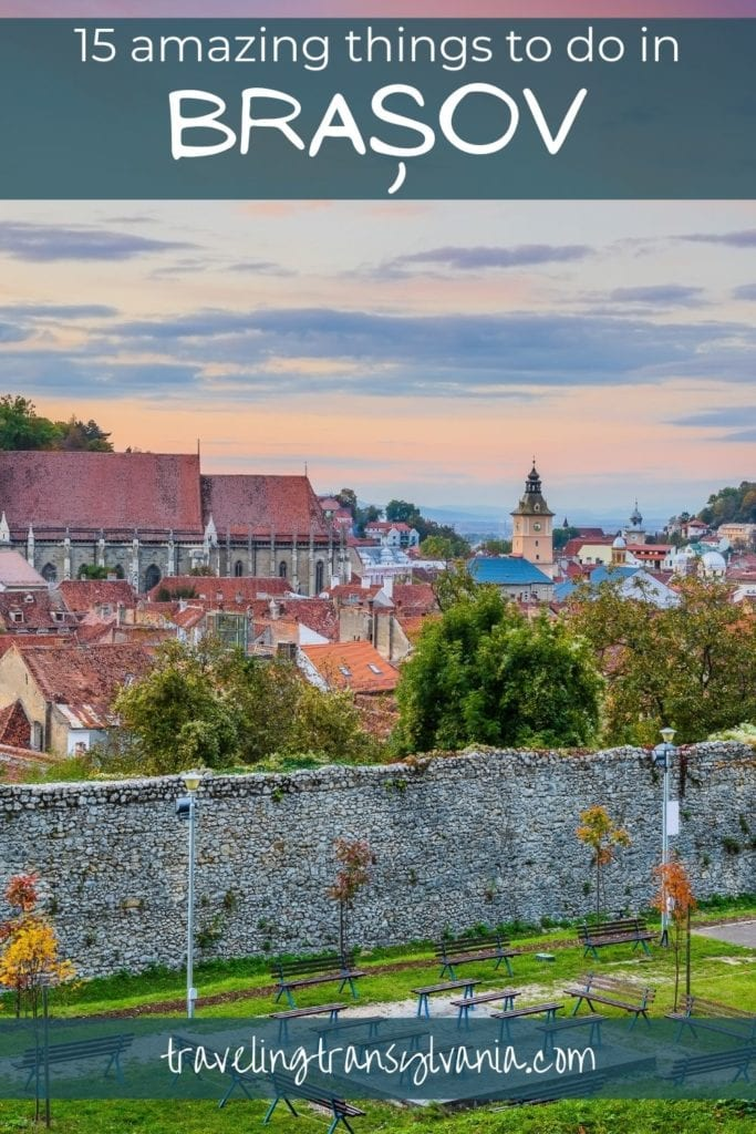 Pinterest graphic - 15 amazing things to do in Brasov.