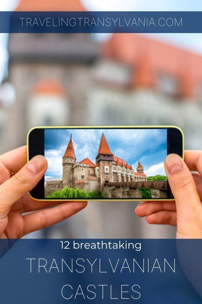 Pinterest graphic - best Transylvanian Castles to visit