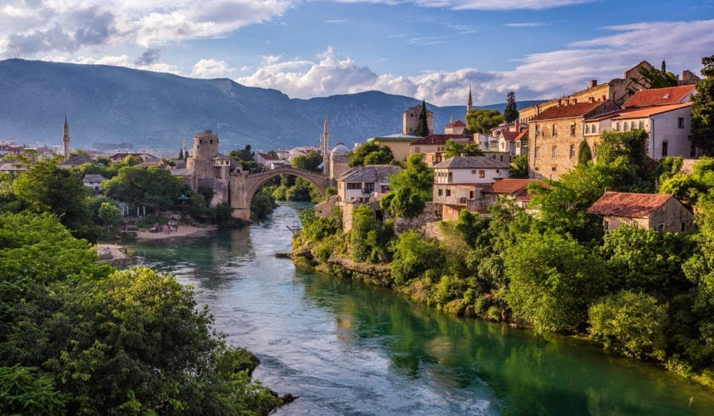One of the top contenders for most beautiful European city, the beautiful Mostar in Bosnia & Herzegovina.