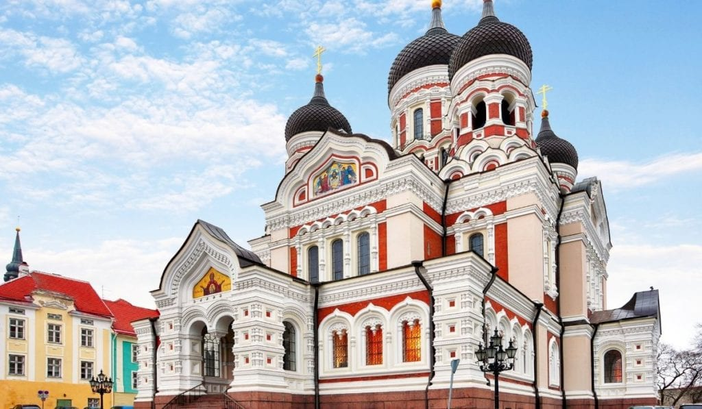 Gorgeous onion-domed building in Tallinn, Estonia, one of the most beautiful European countries to visit.