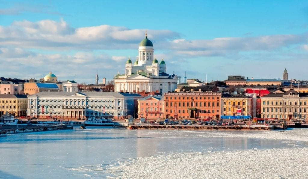 Beautiful landscape of Finland's capital city, Helsinki, one of the most beautiful European cities to visit.
