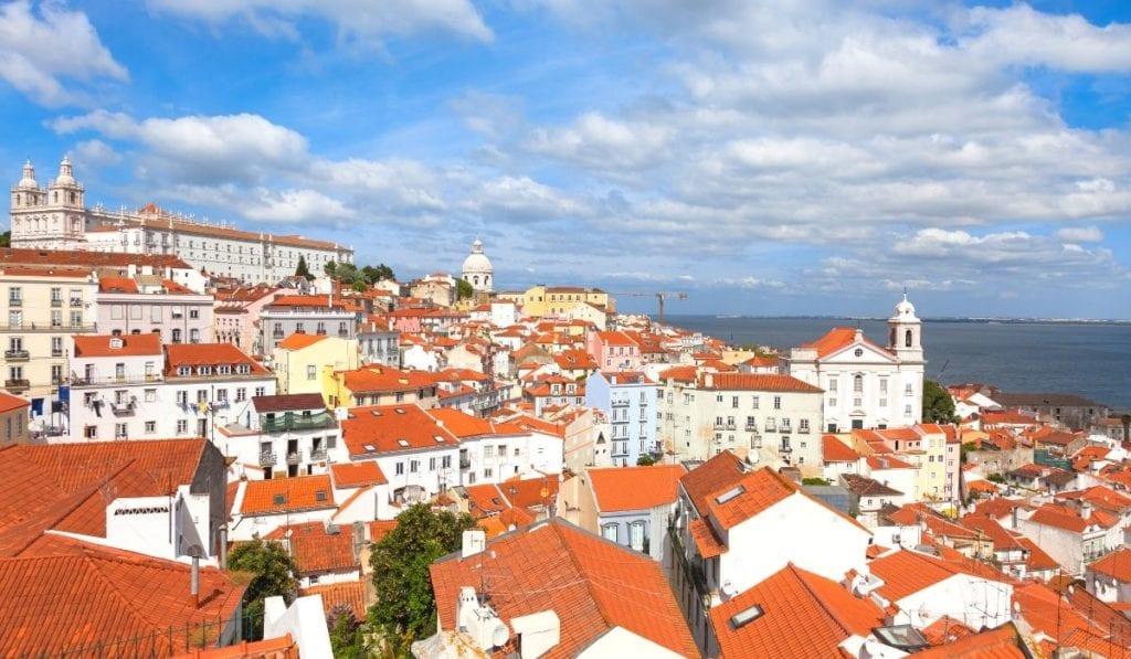 View of Lisbon from Portas do Sol Miradouro