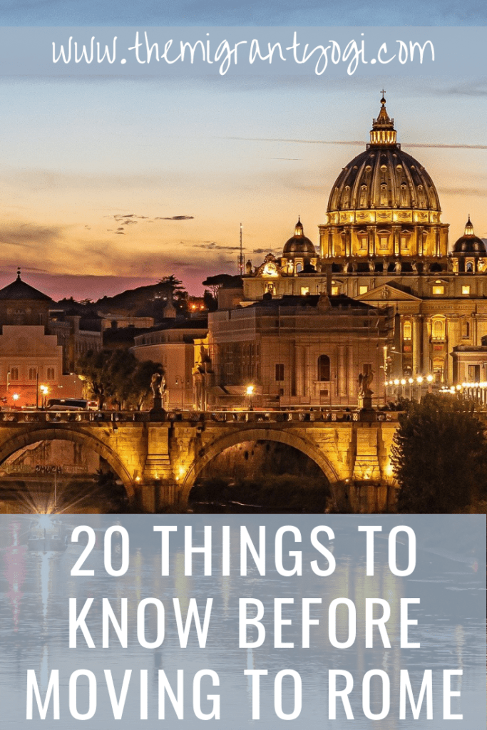 Pinterest Graphic - Know Before Moving to Rome