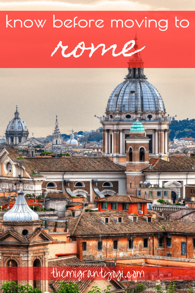 Pinterest graphic - Know Before Moving to Rome 2