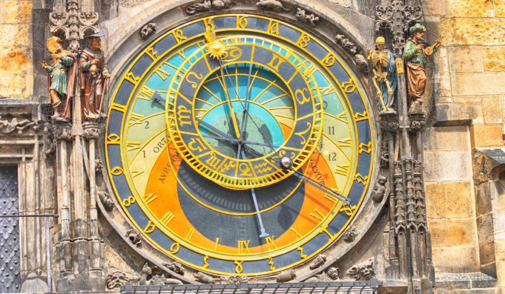 Prague's 600 year old astronomical clock.