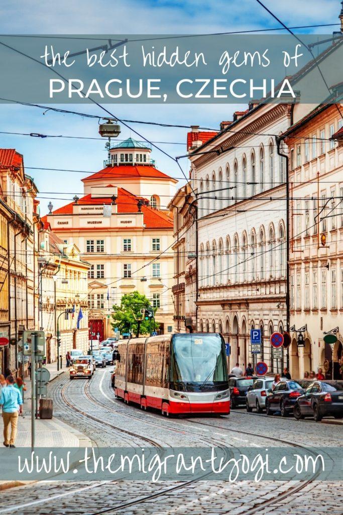 Pinterest graphic - top 10 hidden gems in Prague.