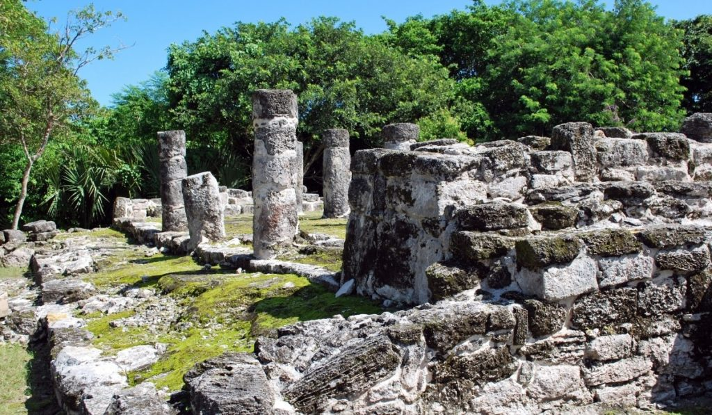 San Gervasio Mayan ruins on the Mexican island of Cozumel.